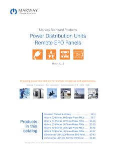 Power Distribution Units Remote EPO Panels