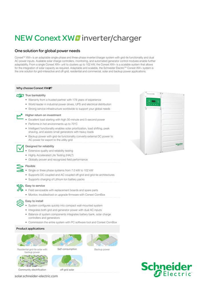 pdf Conext XW+ datasheet
