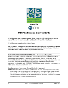 MECP Certification Exam Contents