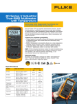 80 Series V Industrial True-RMS Multimeter with Temperature