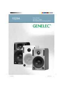genelec.com – 1029a data sheet PDF