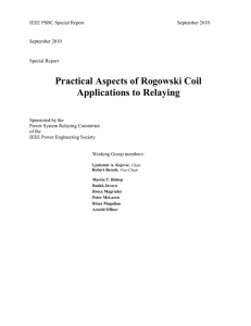 Practical Aspects of Rogowski Coil Applications to Relaying
