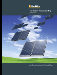 Solar Electric Product Catalog