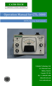 Operation Manual for CTL-3000 - Cath-Tech