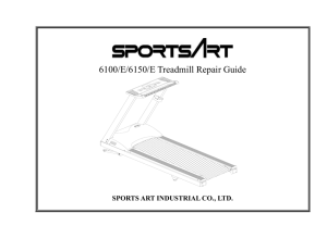6100/E/6150/E Treadmill Repair Guide