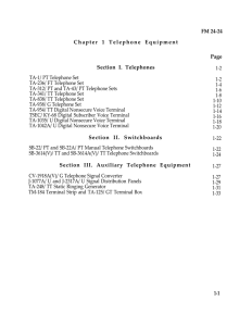 FM 24-24 Chapter 1 Telephone Equipment Section I. Telephones