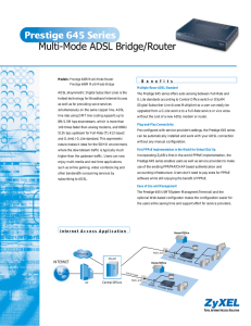 Multi-Mode ADSL Bridge/Router