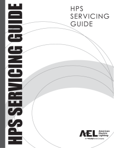 hps servicing guide - American Electric Lighting