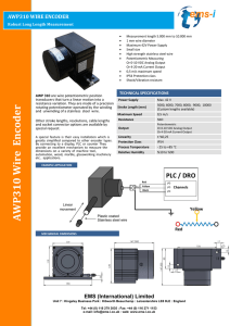 AWP 310 Wire Encoder - EMS (International) Ltd