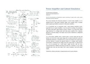 Power Amplifier and Cabinet Simulation