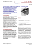 PN-250CG SS Plug-In Solid-State Code Transmitter