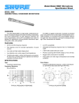 Shure SM81 Microphone Specification Sheet