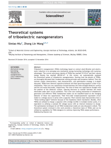 Theoretical systems of triboelectric nanogenerators