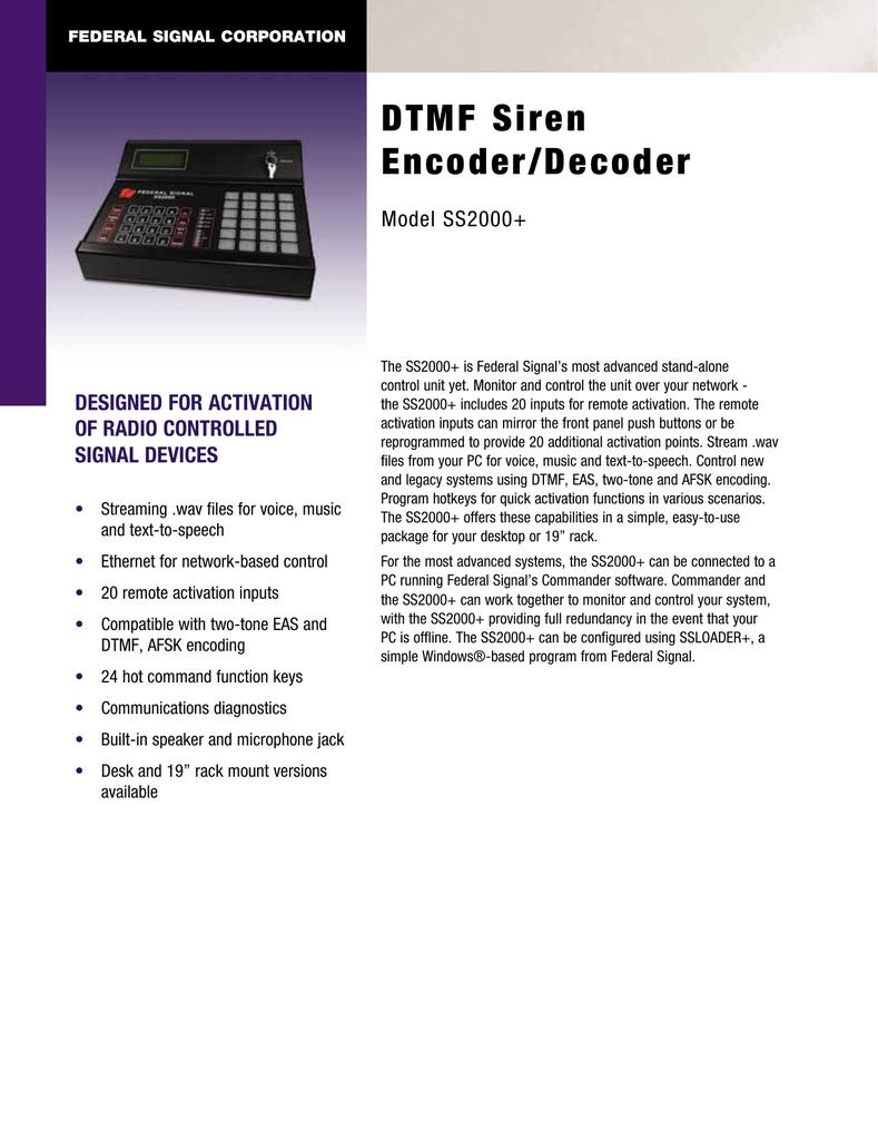 Dtmf Siren Encoder Decoder Generator