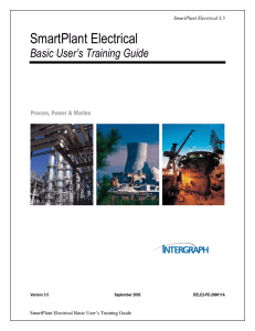 SmartPlant Electrical Basic Training Guide