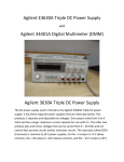 Agilent E3630A Triple DC Power Supply Agilent 34401A Digital