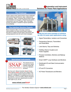 Automation and Instrument Solutions for Power