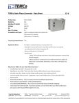 TEMCo Static Phase Converter - Data Sheet XS-8