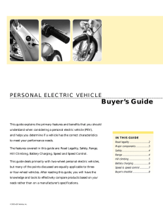 Buyer`s Guide - electrathon of tampa bay