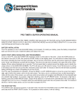 pro timer 4 super operating manual