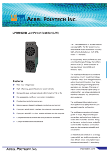 ACBEL POLYTECH INC. Features LPR1080HB Low Power Rectifier