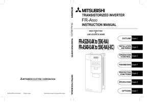 FR-A500 INSTRUCTION MANUAL
