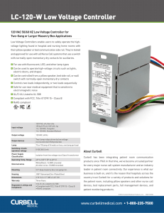 LC-120-W Low Voltage Controller - Curbell Medical Products, Inc.