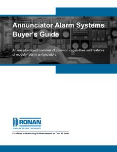 Annunciator Alarm Systems Buyer`s Guide