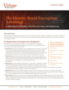 The Identity-Based Encryption Advantage - HPE Security