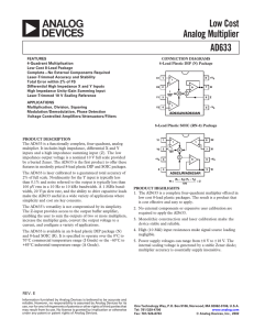 AD633 Low Cost Analog Multiplier Data Sheet (REV. E)