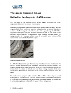 TECHNICAL TRAINING TIP 017 Method for the diagnosis of ABS