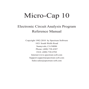 Micro-Cap 10 Reference Manual