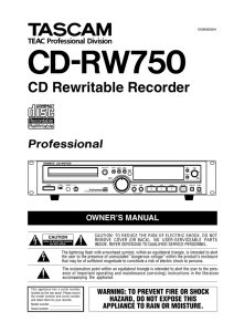 CD Rewritable Recorder