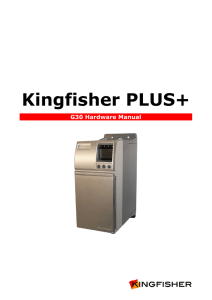 Kingfisher G30 Manual