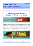 electronic gas igniter