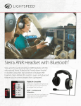 Sierra ANR Headset with Bluetooth®
