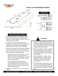 UltraLux ® 6-Lamp Installation Instructions