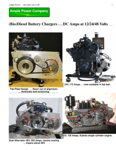 (Bio)Diesel Battery Chargers . . . DC Amps at 12/24
