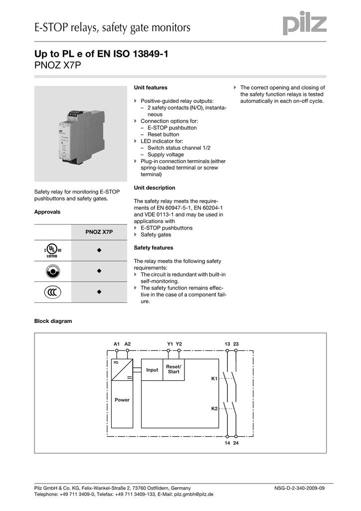 pnoz x7p data sheet PNOZ X3