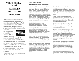 VOLVO PENTA EXTENDED PROTECTION PROGRAM