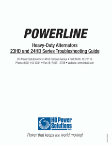 to the 23HD and 24HD Troubleshooting Guide.