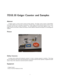 7D10.10 Geiger Counter and Samples