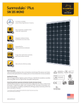 SolarWorld Sunmodule Plus 285 watt mono solar panel data sheet