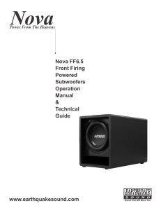 Nova FF6.5 Front Firing Powered Subwoofers Operation Manual