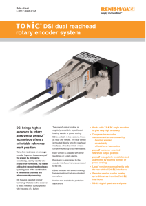 TONiC DSi dual readhead rotary encoder system data sheet