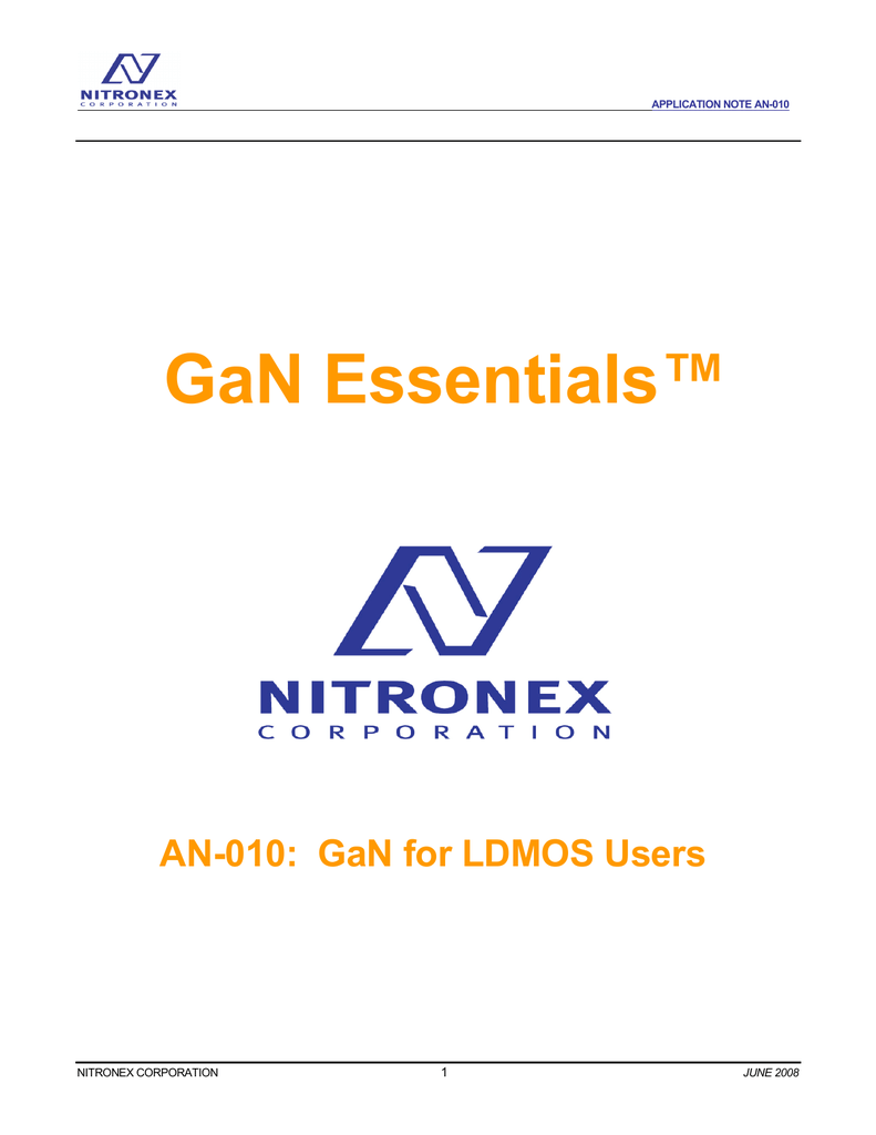 GaN for LDMOS Users