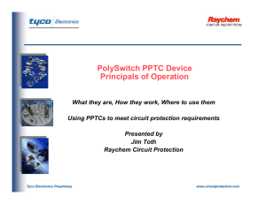 PolySwitch PPTC Device Principals of Operation