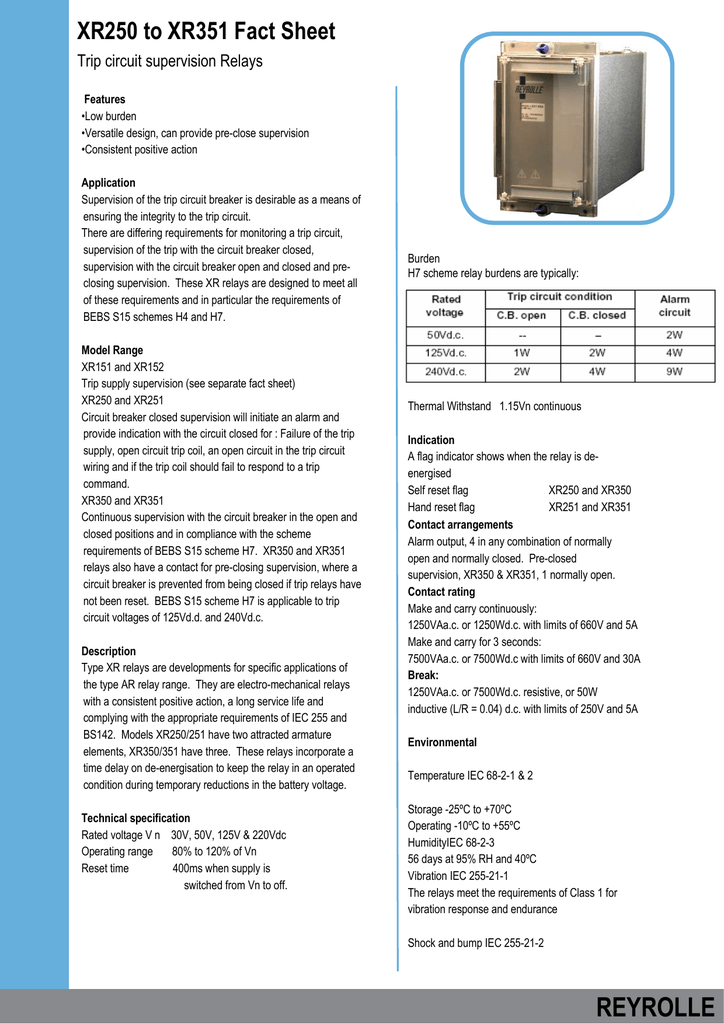 xr250 351The Closing Device To Ensure Complete Closing Of The Circuit Breaker #13