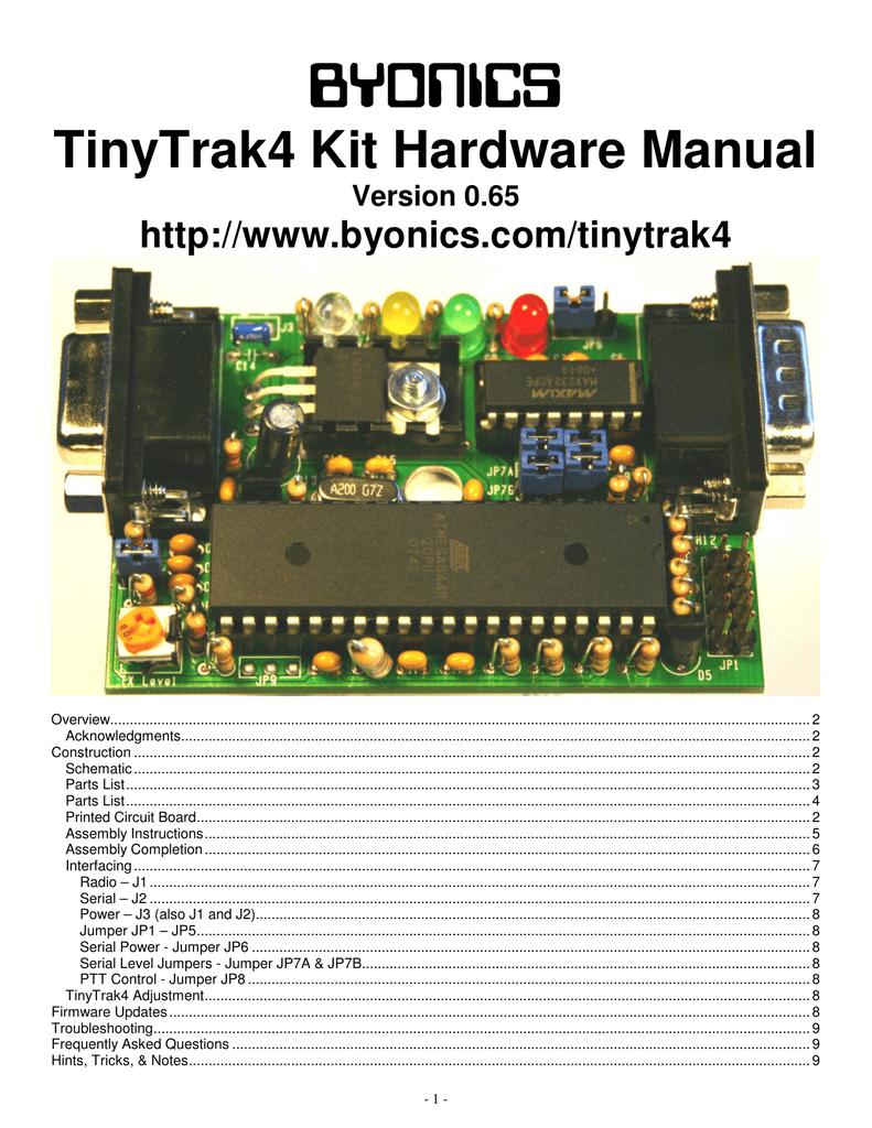 TinyTrak4 Kit Hardware Manual v0 65