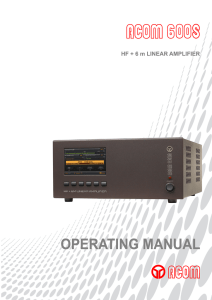 Operating Manual ACOM-600S